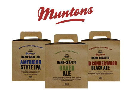 Muntons Hand 3.6kg Crafted Home Brew Beer Kits